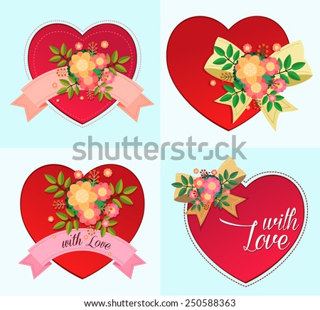 heart symbol for various purpose and event such as valentine and wedding - stock vector