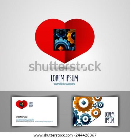 heart vector logo design template. love or health icon. - stock vector
