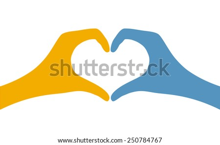 heart with hand - stock vector