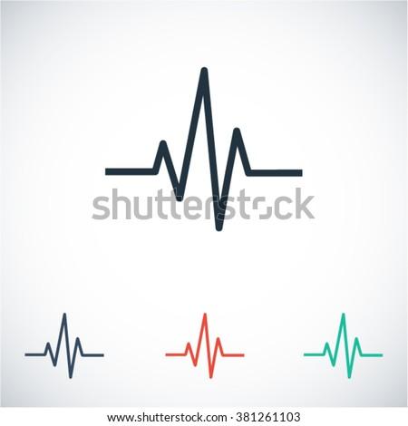 Heartbeat  icon, heartbeat  vector icon, heartbeat  icon illustration, heartbeat  icon eps, heartbeat  icon jpeg, heartbeat  icon picture, heartbeat  flat icon, heartbeat  icon design,  - stock vector