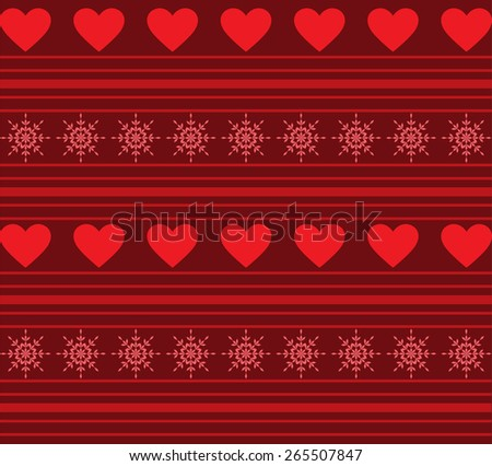 Hearts And Stripes Background - stock vector