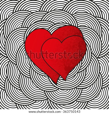 Hearts background for valentines day in vector. - stock vector