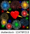 hearts for valentine - stock vector