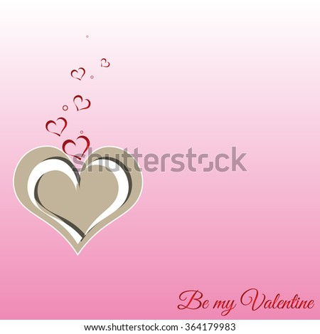 Hearts. Valentines day card on pink background. Be my Valentine phrase. Vector. Best gift - stock vector