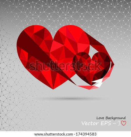 Hearty embrace. Love background. Cordial. I love you. Valentines Day. Only you. - stock vector