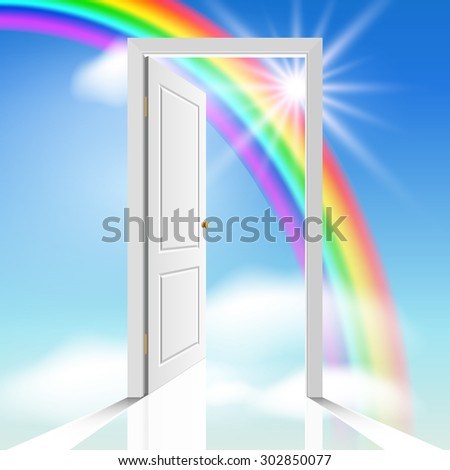 Heavenly door - stock vector