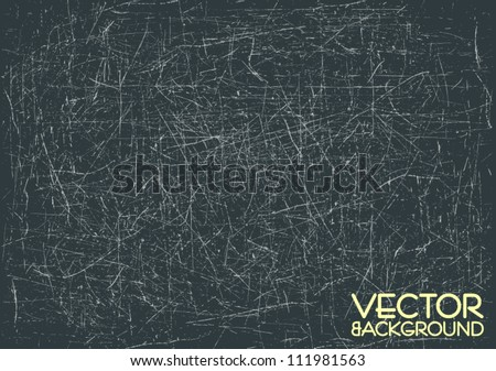 Heavily scratched surface, vector background - stock vector