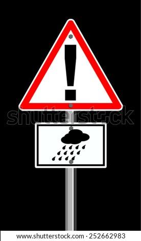 Heavy Rain Symbol - stock vector