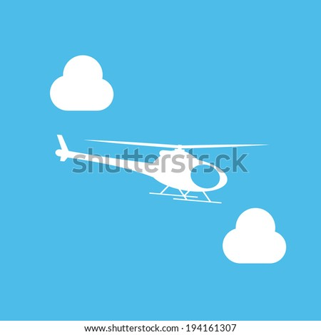 helicopter icon - stock vector
