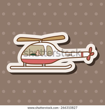 helicopter theme element vector,eps - stock vector