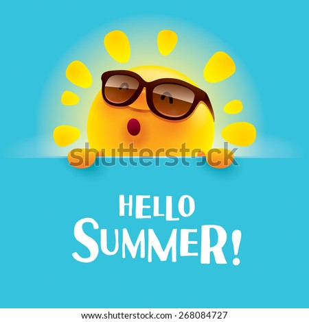Hello Summer!  - stock vector