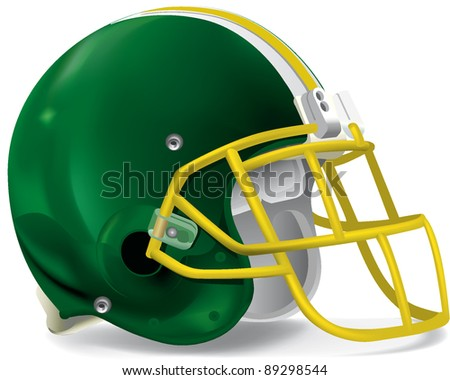 helmet football team - stock vector