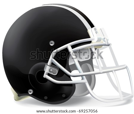 helmet football team black & withe - stock vector