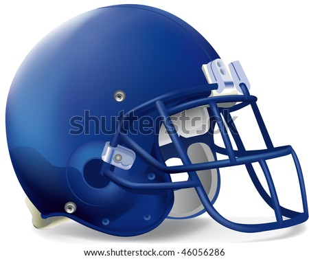 helmet football team blue super - stock vector