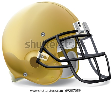 helmet football team gold Black mask - stock vector