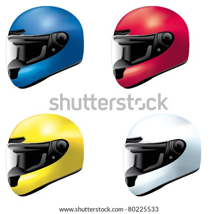 helmet sport bike motorcycle motorbike car - stock vector