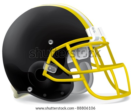 helmets football team helmet - stock vector