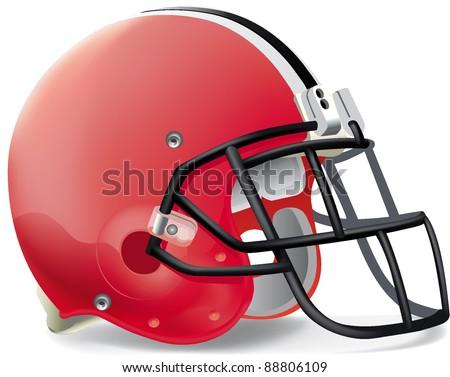 helmets football team helmet - stock vector