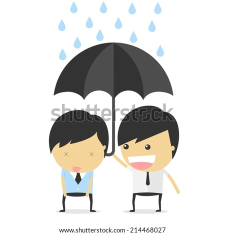 help and support. idea concept vector illustration - stock vector