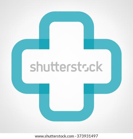 Help cross or pharmacy symbol icon - stock vector
