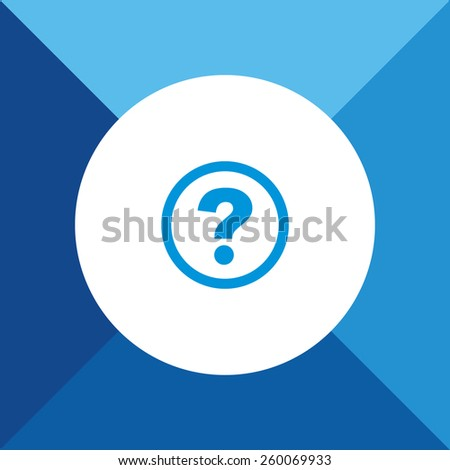 Help Icon on Blue Background. Eps-10. - stock vector