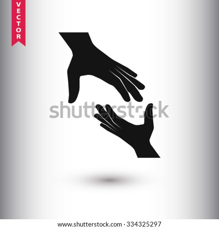 Help icon. One of set web icons - stock vector
