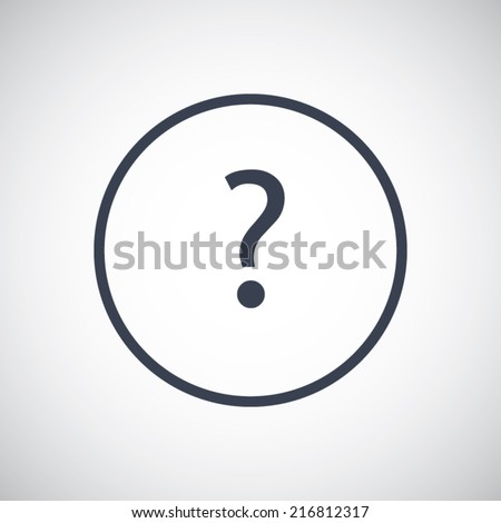 Help Question FAQ symbol icon. Vector pictogram. Simple flat metro design style. esp10 - stock vector