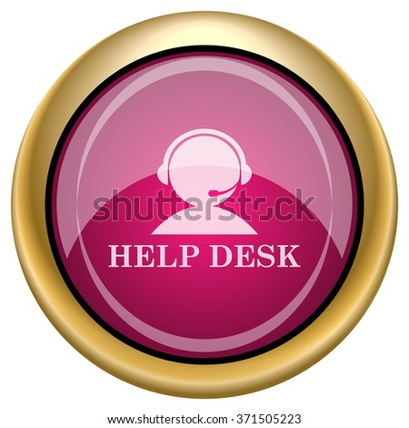 Helpdesk icon. Internet button on white background. EPS10 vector.