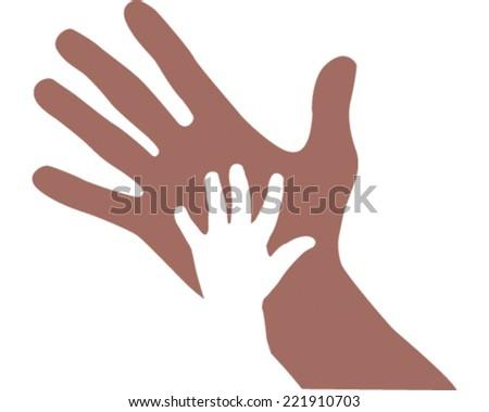 Helping Hand - stock vector