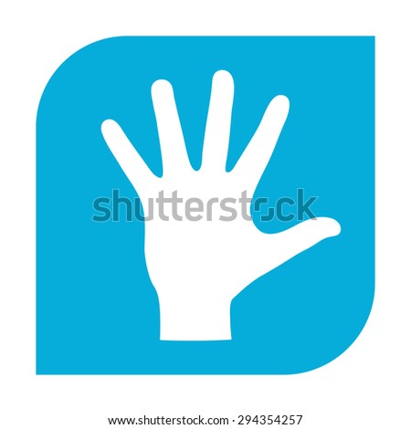 Helping hand silhouette- icon - stock vector