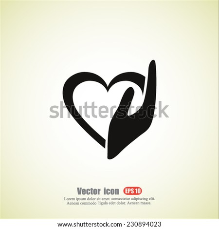 helping hand  vector icon - stock vector