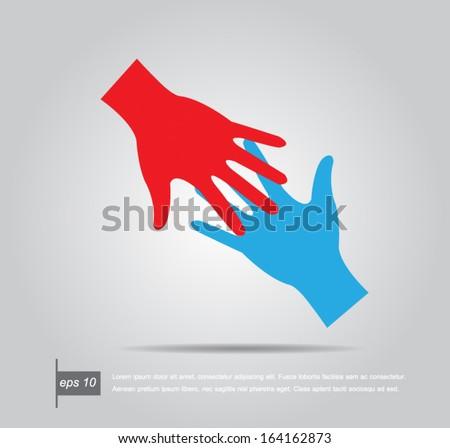 Helping hands. Vector illustration - stock vector