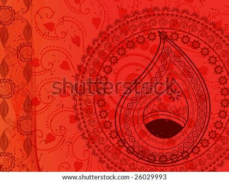 Henna background - stock vector