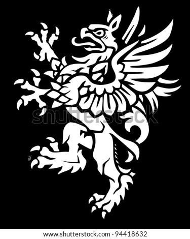 Heraldic Griffin - stock vector