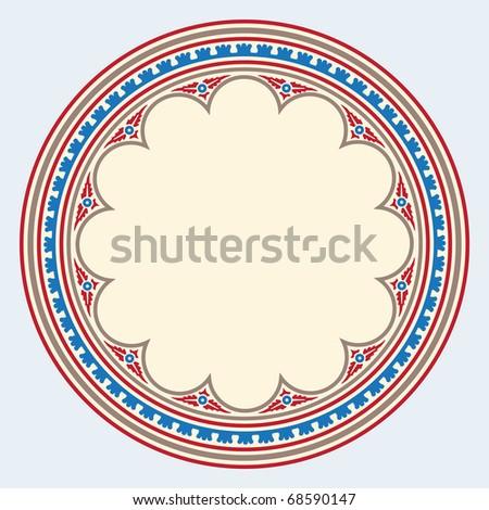 Heraldic ornamental frame medieval style - stock vector
