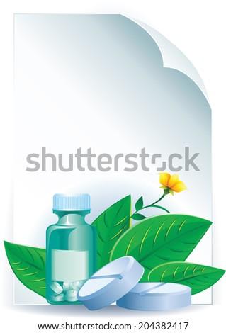 Herbal medicine - stock vector