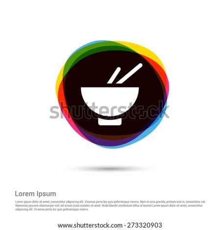 herbal medicine, pharmacy Icon, White pictogram icon creative circle Multicolor background. Vector illustration. Flat icon design style - stock vector