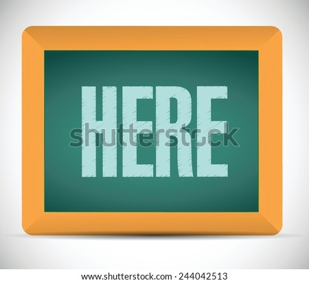 here board sign illustration design over a white background - stock vector