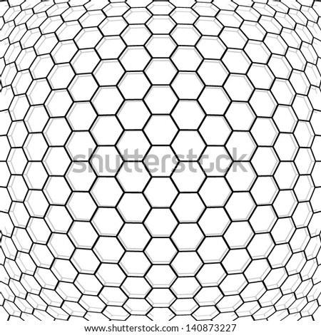 Hexagon geometric background. - stock vector