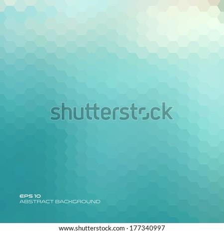 Hexagon geometry. Summer abstract background. Vector design. - stock vector