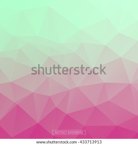 Hexagon pattern. Abstract background. design element for business card, flayer, banner, poster. Pink and green background. Triangle polygon pattern - stock vector