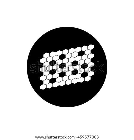 hexagonal abstract icon - stock vector