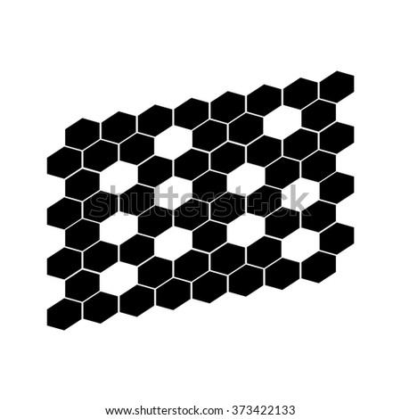 hexagonal abstract icons vector - stock vector