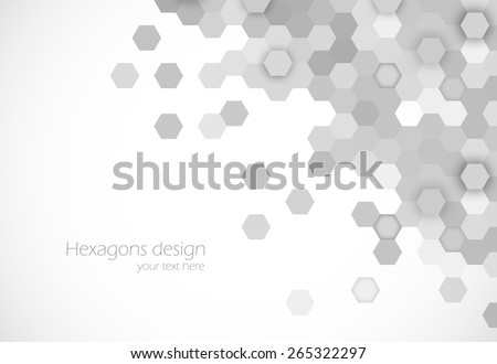 Hexagons background abstract science design vector illustration - stock vector