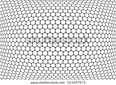 Hexagons pattern. Abstract textured latticed background. Vector art. - stock vector