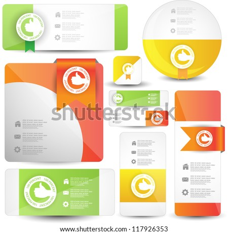 hi quality web elements with guarantee labels .best for sale and advertisement - stock vector