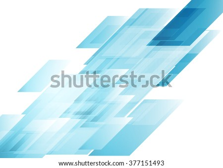 Hi-tech blue shapes abstract background. Vector graphic geometric design - stock vector