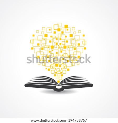 Hi -tech book concept stock vector - stock vector