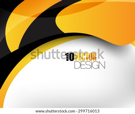 hi-tech clean abstract wave elements corporate business background eps10 vector  - stock vector