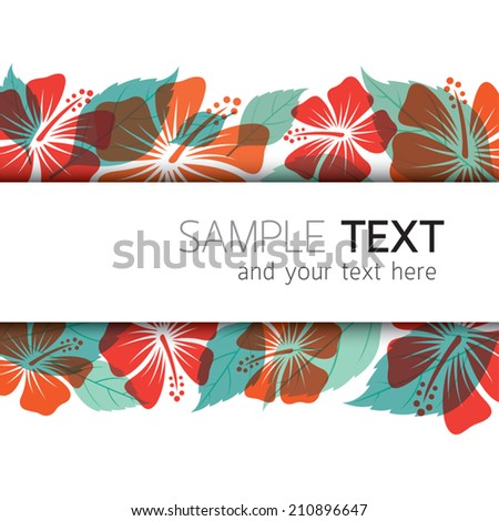 Hibiscus Background - stock vector